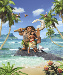 Fototapet - Vaiana - Adventures in Oceania