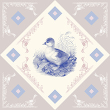 Canvas print - Duck - Blue Pink