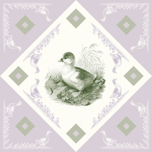 Canvas print - Duck - Green-Purple