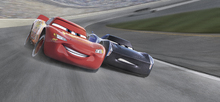 Canvasschilderij - Cars 3 - First to the Finish Line