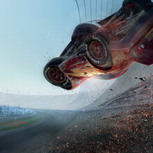 Canvasschilderij - Cars 3 - Lightning Crashing