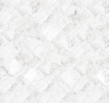 Wallpaper - Marble Tiles - White