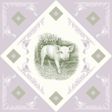 Canvas print - Piglet, Green Purple