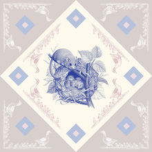 Canvas print - Dormouse, Blue Pink