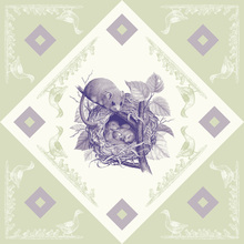 Canvas print - Dormouse 2 , Purple Green
