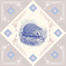 Canvas print - Hedgehog, Blue Pink