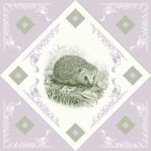 Canvas print - Hedgehog, Green Purple