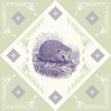 Canvas print - Hedgehog 2, Purple Green