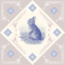 Canvas print - Rabbit, Blue Pink