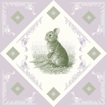 Canvas print - Rabbit, Green Purple