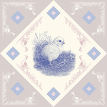 Canvas print - Chicken, Blue Pink