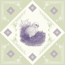 Canvas print - Chicken 2, Purple  Green