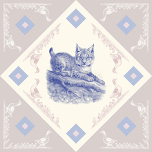 Canvas print - Lynx, Blue Pink