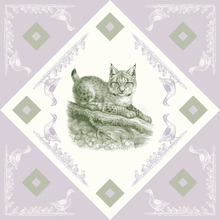 Canvas print - Lynx, Green Purple