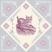 Canvas print - Lynx, Pink Blue