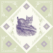 Canvas print - Lynx, Purple Green