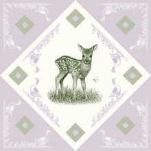Canvas print - Deer, Green Purple