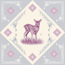 Canvas print - Deer, Pink Blue