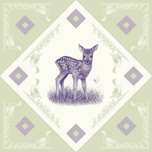 Canvas print - Deer, Purple Green