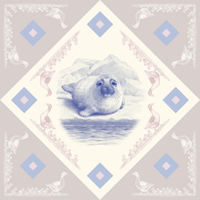 Canvas print - Seal, Blue Pink