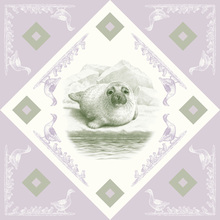 Canvas print - Seal, Green Purple