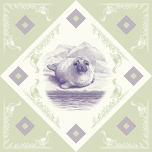 Canvas print - Seal - Purple-Green