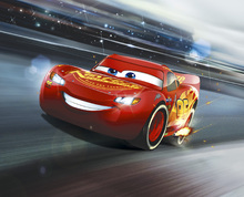 Canvasschilderij - Cars 3 - Lightning McQueen - Legend of the Track