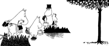 Canvastavla - Moomin - Moomin family on Adventure