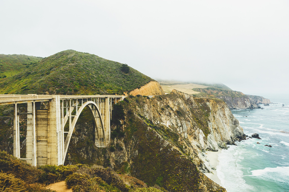 Bixby Creek Bridge Big Sur California Wall Mural