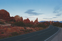 Wall mural - Road in Arches National Park