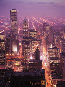 Canvas print - Violaceous Chicago