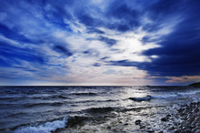 Canvas print - Blue Waves of Torö, Sweden