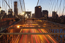 Canvas print - On top of Brooklyn Bridge, New York