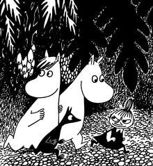 Leinwandbild - Moomin - Even Darker