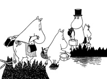 Canvastavla - Moomin Family