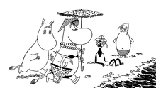 Canvastavla - Moomin on the Riviera
