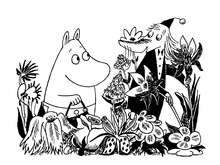 Canvastavla - Moominmamma and Fillyjonk