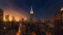 Canvas print - New York Glow