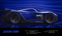 Canvasschilderij - Cars 3 - Jackson Storm -  Technical Data
