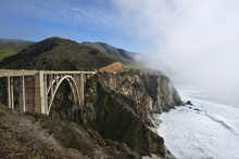 Canvas print - Californian Waves at Bixby Bridge