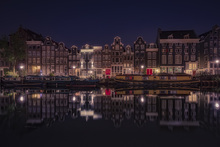 Canvas print - Amsterdam by Night