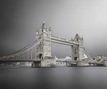Canvas print - Grey Tower Bridge
