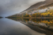Wall mural - Misty Loch