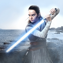 Canvastavla - Star Wars - Rey with Lightsaber