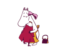 Canvastavla - Moomin - The Invisible Child - Ninny and Moominmamma