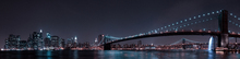 Canvas print - Manhattan Skyline and Brooklyn Bridge