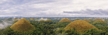 Wall mural - Chocolate hills, panoramic