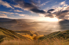 Wall mural - Sunrise Over Ridges