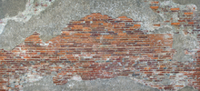 Fototapeta - Old Roman Brick Wall