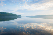 Canvas print - Blue Swedish Summer Lake